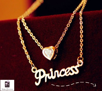 necklace with princess pendant